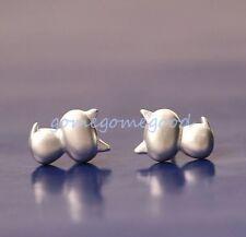 925 Sterling Silver -Korea Chic 3D Cat Kitten Lady Party Stud Earrings Jewelry