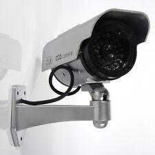 Sliver Bullet Solar Power Flashing LED Security CCTV Fake Dummy Camera