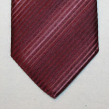 NEW Strellson Silk Skinny Neck Tie Solid Burgundy with Plain Stripes 1494