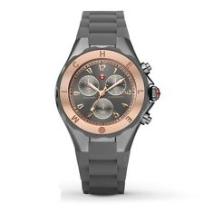 Michele MWW12F000064 Tahitian Jelly Bean Grey Rose Gold Rubber 40MM NEW NWT