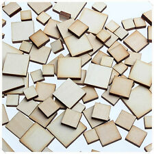 50pcs WOODEN MINI MIXED WOOD SQUARE DECOR IDEAL CRAFT CARD MAKING SCRAPBOOKING