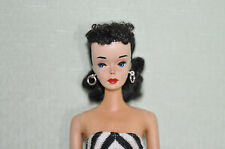 Vintage 1961 #3 Gorgeous Black Hair Barbie Doll Original w/Silken Flame FREE S&H