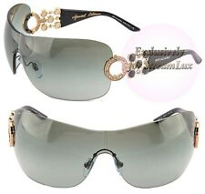 BVLGARI Shield SPECIAL EDITION Women Sunglasses BV 6063-B 376/11 Black Gold