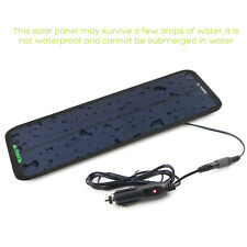 18V 7.5W Portable Solar Panel Power Battery Charger Backup For Car Motorcycle