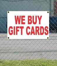 2x3 WE BUY GIFT CARDS Red & White Banner Sign NEW Discount Size Price FREE SHIP