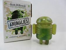 Scott Wilkowski INFECTED ANDROID ANOMALIES resin sculptures - Green w/ sparkles