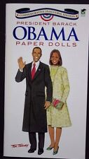 President Barack Obama Paper Dolls Paperback Book Tom Tierney Uncut NEW FreeShip