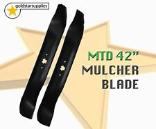 "2 x RIDE ON MOWER 42"" mulcher blades to suit selected MTD, CUB CADET & M. F."