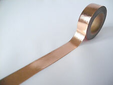 10 Metre Roll Washi Tape Foil Rose Gold Copper Block Colour Metallic 15mm