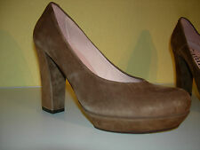GIANNA DI FIRENZE Damen Plateau Schuhe Pumps Wildleder Spain Gr.39 LP129€ Neuw