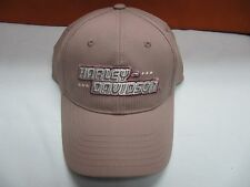 HARLEY DAVIDSON EMBROIDERED WOMENS PINK ADJUSTABLE BASEBALL CAP HAT BCG54907