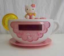 Hello Kitty Digital Alarm Clock Radio Night Light Tea Cup
