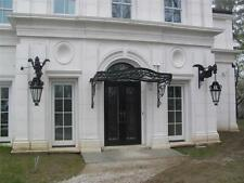 INCREDIBLE VICTORIAN STYLE HAND WROUGHT IRON CANOPY WITH GLASS - CCT1