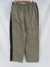GUC Men's NIKE Lined Track Pants Taupe/ Black Drawstring and pockets Size Large