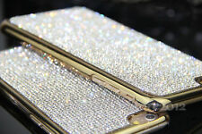 Bling 100% Real Crystal Diamond Cell Phone Case Cover For iPhone 7 Plus Gold