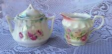 """THREE CROWN CHINA: GERMANY -  CREAMER & SUGAR BOWL (230)"