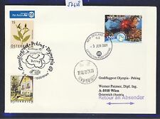 57628) AUA Olympiade SF Wien - Peking China 8.8.2008, cover New Zealand RR!