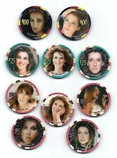 Celine Dion Chips Set of 10 UNCIRCULATED. Matching # 0266. Rare. Unique.
