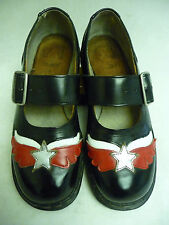 TREDAIR Women's Shoes Size 10 Black White Red Star Mary Jane Buckle True Blue