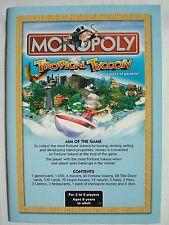 Monopoly tropical tycoon jeu de plateau instructions-pièces de rechange, des pièces parker 2007