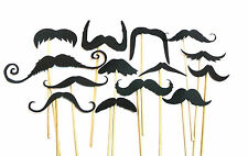 16PC Photo Booth Props Black Mustache Moustache Wedding Parties