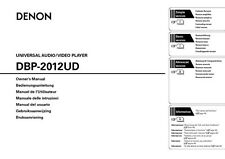 Denon DBP-2012UD Blu-ray Player Owners Manual
