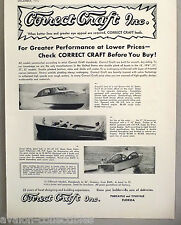 Correct Craft Sedan Cruiser, Runabout & Fisherman Boat PRINT AD - 1948