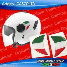 2 Adesivi Resinati Stickers 3D Flag Bandiera ITALIA per casco