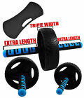 Senshi Japan Tri-Width Ab Roller Wheel Abdominal Exercise Strength Fitness Knee