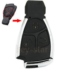 Modified 3 Button Remote Key Shell Case Fob for Mercedes-Benz CLS C E S + Holder