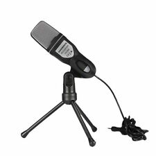 New Professional Condenser Sound Microphone Mic w/ Stand For Laptop PC Skype MSN
