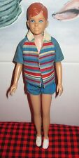 1963 VTG. Barbie BEAUTIFUL CLEAN Redhead RICKY DOLL~Orig.Top+Shorts~A+ FACE+HAIR