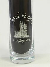 Royal Wedding Prince Andrew & Sarah Ferguson 23rd July 1986 Tall Drinking Glass