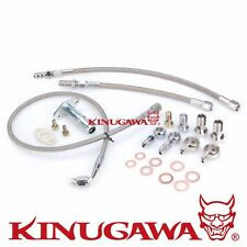 Turbo Oil & Water Line kit 4B11T Lancer EVO X 10 w/ Garrett GT3076R Ball Bearing