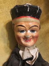Marionnette XIX 19 ème Vers 1870-1880 Carton Bouilli Peint à la Main Guignol 9