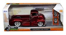 JADA 1:24 W/B JUST TRUCKS - 1952 CHEVROLET COE PICKUP WITH EXTRA WHEELS Red