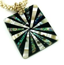 PAUA ABALONE SHELL & MOTHER-OF-PEARL necklace ;GA192