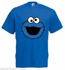 Azul Cookie Monster Camiseta medio hecho A Pedido Talle: M. Fruit Of The Loom
