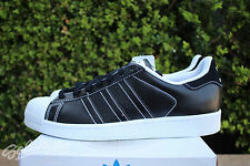 ADIDAS SUPERSTAR SZ 10 CORE BLACK RUNNING WHITE LEATHER D69300