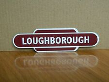 Loughborough Railway Train Station Totem Enamel Sign Fridge Magnet