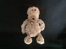 """JELLYCAT BROWN SOFT FLOPPY PUPPY DOG 10"""" TALL COMFORTER TOY EXCELLENT CONDITION"""