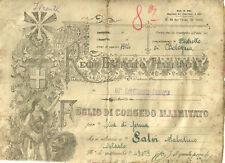 Foglio di Congedo Illimitato Reggimento Fanteria Venezia 1925
