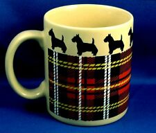 Scotty Dog Mug Coffee Cup Red Tartan Plaid Scottish Terrier Xmas Gift Idea Nice