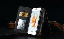 For Samsung Galaxy S7 Wallet leather Multi-Function Card Holder Case Cover BRG