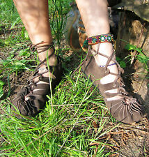 Pixie Festival Leather Hippy Psytrance Sandals Size 3 4 5 6 7 8 restocked 17/08