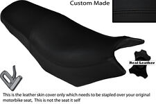 BLACK STITCH CUSTOM FITS YAMAHA YX 600 RADIAN 86-90 DUAL LEATHER SEAT COVER