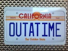OUTATIME Refrigerator / Toolbox Magnet Back to the future bttf license plate