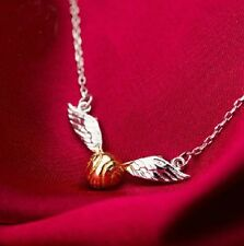 Harry Potter Quidditch The Golden Snitch Winged Ball 925 Sterling Silver Pendant