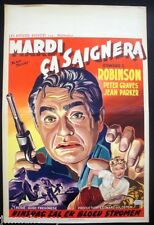 BLACK TUESDAY Original EDWARD G ROBINSON Belgian FILM NOIR / PRISON Movie POSTER