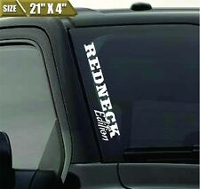 Redneck Edition Windshield Banner Vinyl Decal Sticker Country For Ford F150 F250